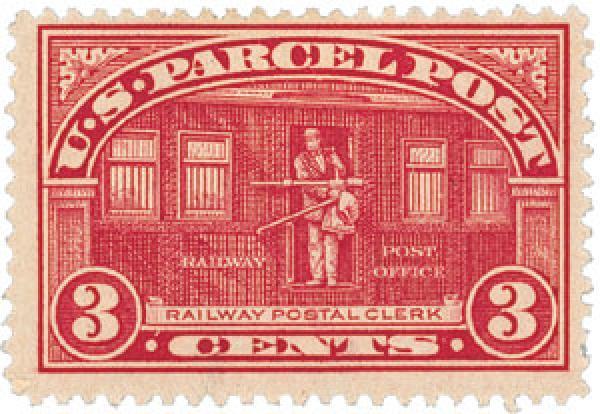 1913 3c Parcel Post Stamp