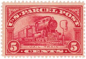 1913 5c Parcel Post Stamp