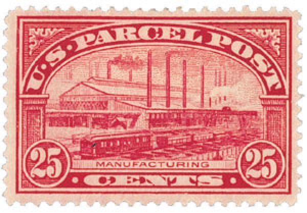 1913 25c Parcel Post Stamp