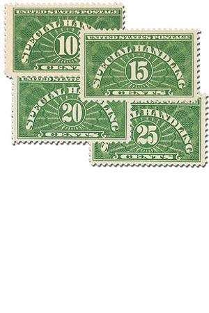 1925-55 Special Handling Stamps, Set/4