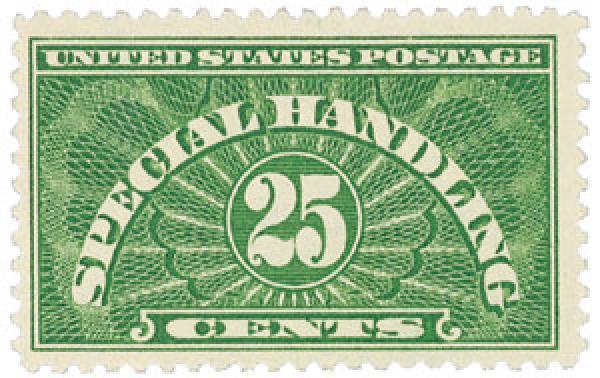 1925 Special Handling 25c, Deep Green