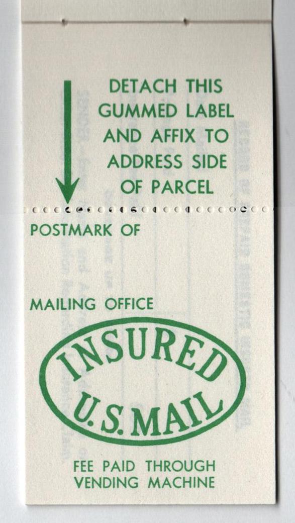 1977-81 40c Black - Postal Insurance