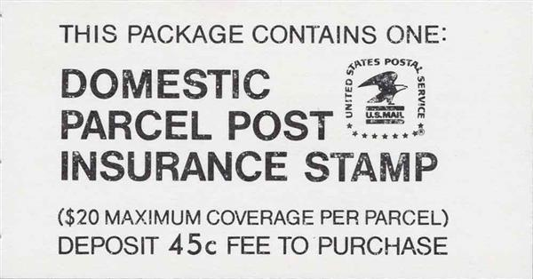 1981 45c RedPostal Insurance
