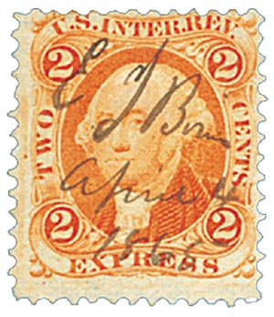 1862-71 2c org, express, old paper
