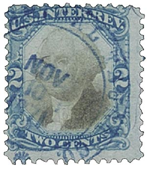 1871 2c bl, blk, revenue