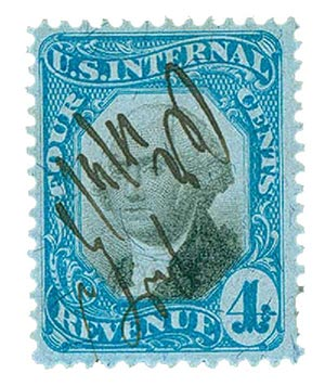 1871 4c bl, blk, revenue