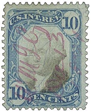 1871 10c bl, blk, revenue