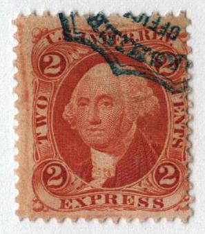 1862-71 2c org, express, silk paper