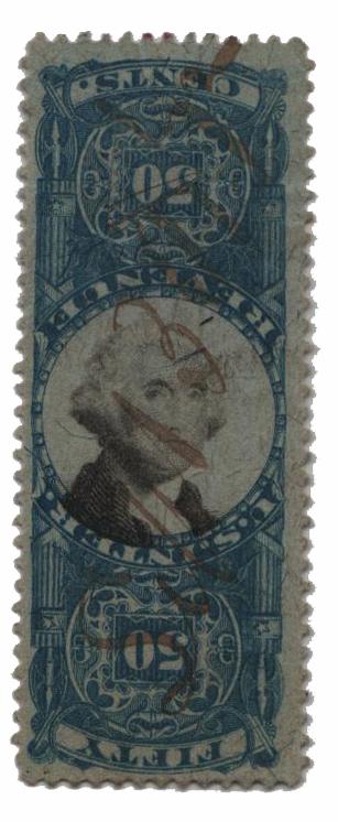 1871 50c blue & black, inverted center