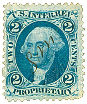 1862-71 2c bl, proprietary, old paper