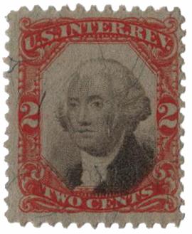 1871-72 2c orange & black