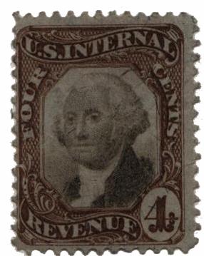 1872 4c brn,blk, revenue