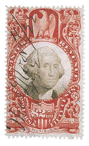 1872 $2.50 cl, blk, revenue