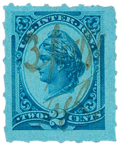 1875-78 2c bl, liberty, perf 12
