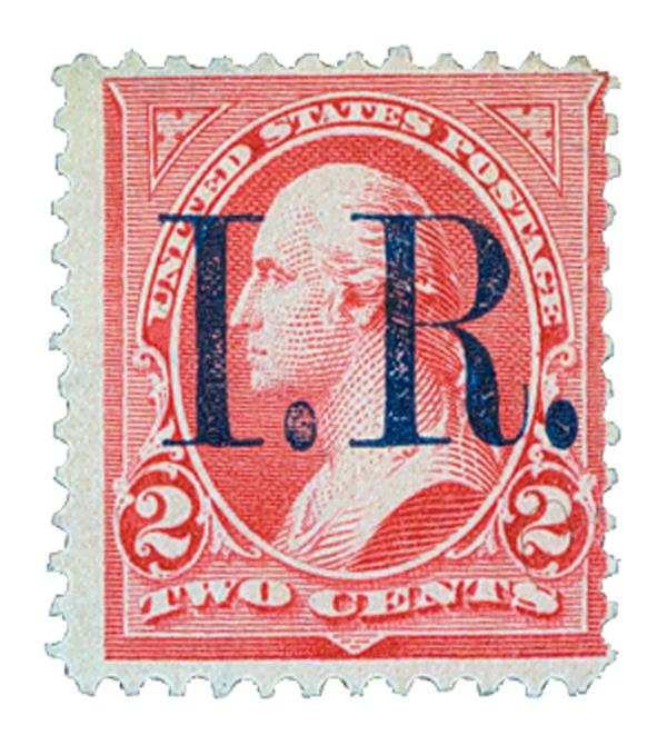 1898 2c pink, type IV, blue overprint