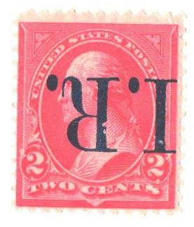 1898 Revenue, 2c Pink, Ty IV, Blue Overprint Inverted