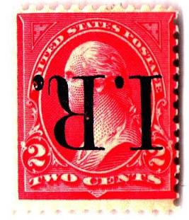 1898 2c pink, Type III, blue overprint