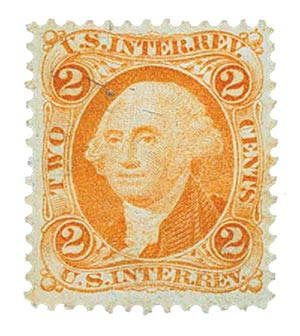 1862-71 2c org, Int. Rev. silk paper