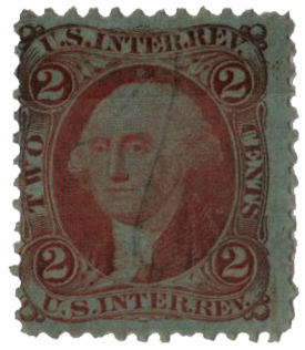 1862-71 2c Internal Revenue, orange