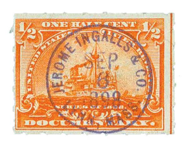 1898 1/2c Battleship, orange