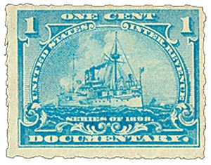 1898 1c Pale Blue For Sale At Mystic Stamp Company