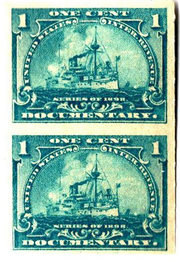 1898 1c pale blue vert.