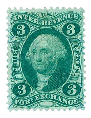 1862-71 3c grn, foreign exchg,silk paper