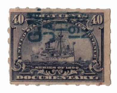 1898 40c blue lilac