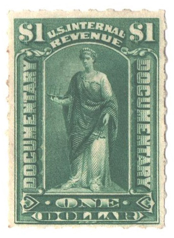 1898 $1 dark green