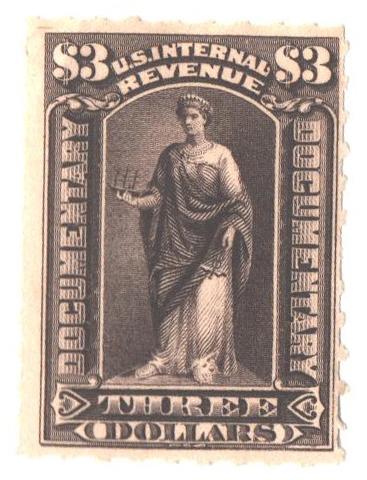 1898 $3 dark brown