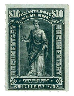 1898 $10 black