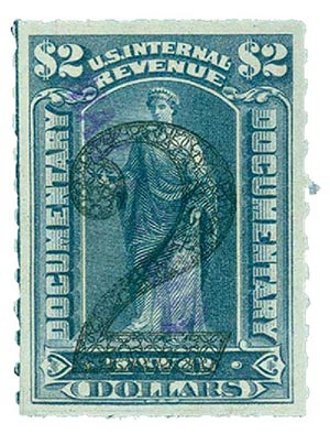 1902 $2 green, ornamental numerals