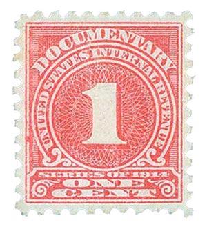 1914 1c ros, offset,sl wmk, perf 10