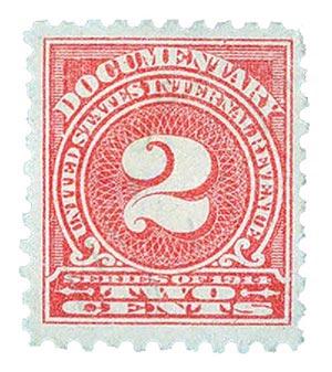 1914 2c ros, offset,sl wmk, perf 10