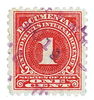 1914 1c ros, offset,dl wmk, perf 10