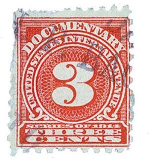 1914 3c ros, offset,dl wmk, perf 10