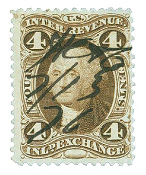 1863 4c Inland Exchange, brown