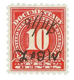 1914 10c ros, offset,dl wmk, perf 10