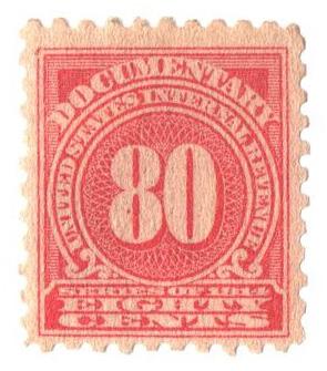 1914 80c ros, offset,dl wmk, perf 10