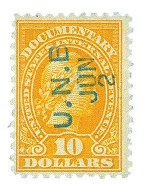 1914 $10 org,liberty, rev, engraved