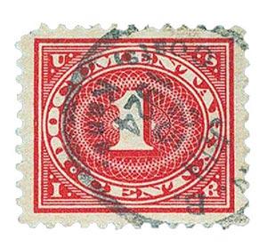 1917 1c car ros,offset,dl wmk,perf 11