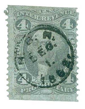 1862-71 4c pur, proprietary,part p