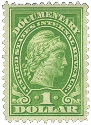 1917-33 $1 yel grn, rev, enraved