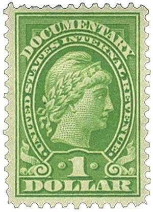 1917-33 $1 yel grn, rev, enraved