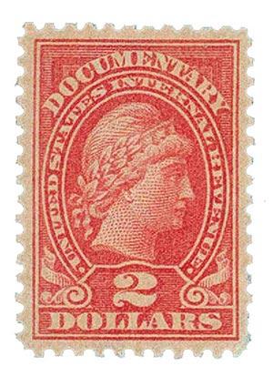 1917-33 $2 ros, rev, engraved