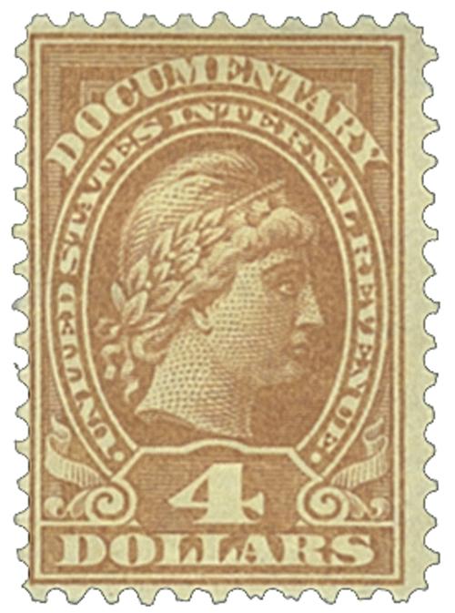 1933 $4 yel brn, rev, engraved