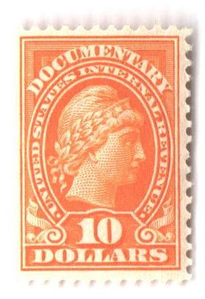 1917-33 $10 org, rev, engraved