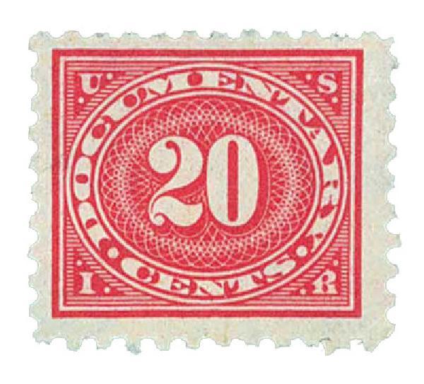 1928-29 20c car ros, offset, perf 10