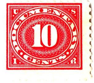 1929 10c car ros,offset, perf 11x10