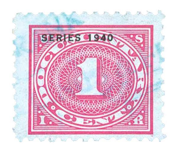 1940 1c ros pnk,offset,dl wmk,perf 11